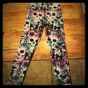 Evolution and Creation Skull Leggings